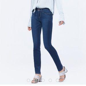 PAIGE Skyline Skinny Mona Blue Jeans